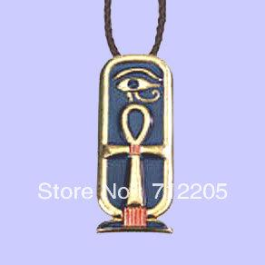free shipping small moq costume jewelry ankh cartouche cross necklace
