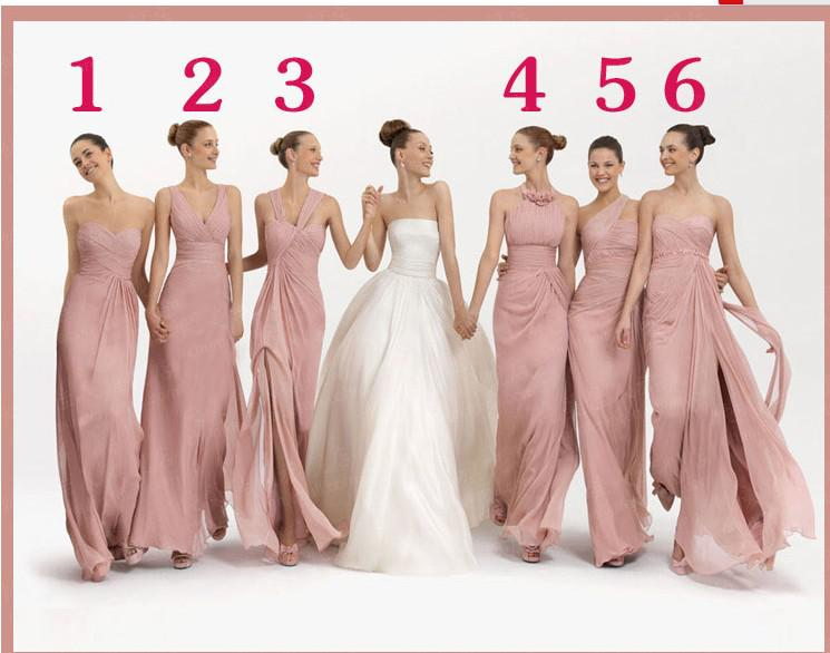 Y Different Styles Bridesmaid Dresses Sleeveless Ruffles Column Ankle Length Formal Gowns Halter Neck Bridesmaid Dresses Latest Bridesmaid Dresses