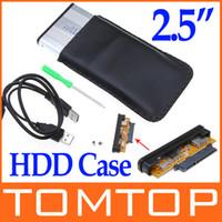 "Wholesale Aluminum Disk - 2.5"" 2.5 inch SATA USB 2.0 Hard Drive Disk HDD Storage Case Enclosure Free Shipping C576S"