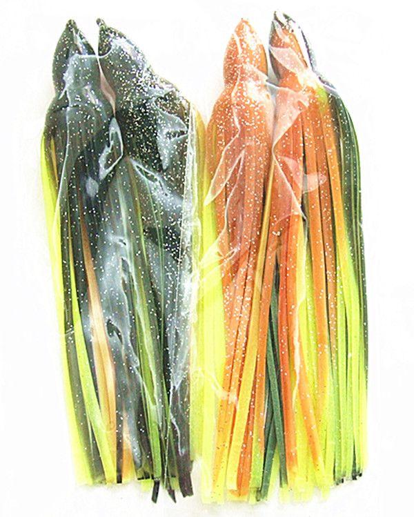 7.5 pulgadas 8.5 pulgadas Pulpo Falda Señuelos de pesca Señuelos de pesca en el mar Cebo de mar Trolling Cebo blando Big Game Señuelos de pesca de color mezclado