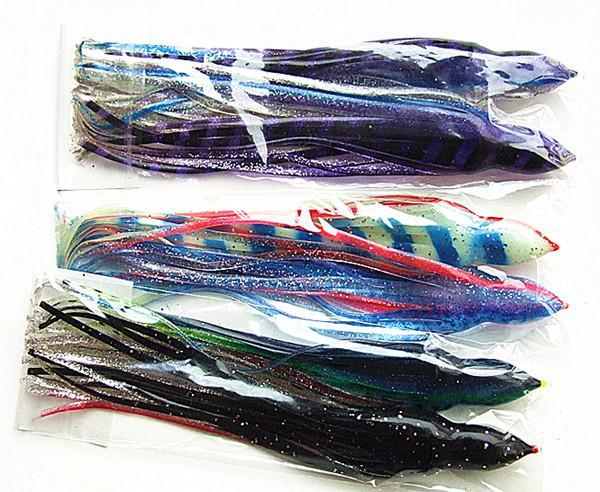 осьминог приманки рыболовные приманки рыболовные снасти море троллингового приманки мягкие приманки большая игра рыбалка приманки 9-9.5 дюймов смешанный цвет высокое качество