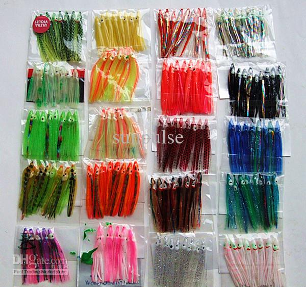 2inch 2.5inch Octopus Skirt Lure Fishing Lure Fishing Tackle Trolling Baits Soft Bait color Mxed