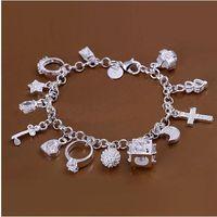 asiatische schmuck armbänder großhandel-DSSB-066, Hotwomen 925 Sterling Silber Armband, 925 Silber Armband Schmuck, 6pcs / lot