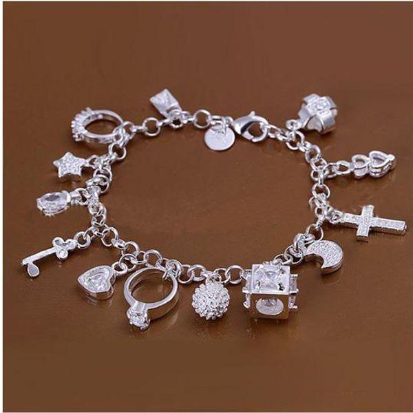best selling DSSB-066,hotwomen's 925 sterling silver bracelet,925 silver bracelet jewelry,6pcs lot