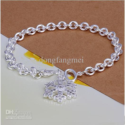 DSSB-066, hotwomen 'ın 925 ayar gümüş bilezik, 925 gümüş bilezik takı, 6 adet / grup