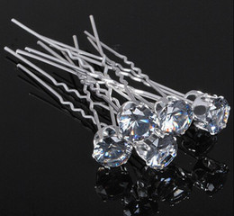 Wholesale Hair Pin Bling - 200pcs lot Free Shipping Bling Bling Big Crystal Hair Pins, Wedding Party Hair Accessories, Fashion