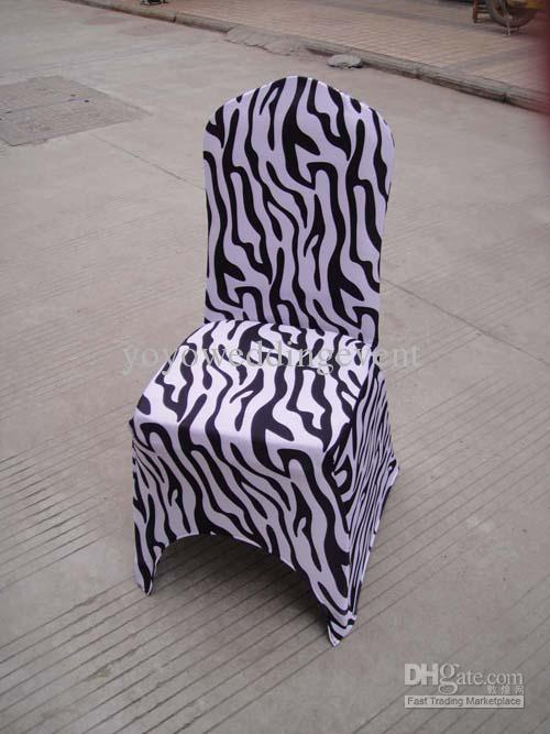 Zebra Print Spandex Lycra Chair Cover Online With 438 22