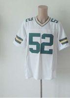 Wholesale American Football Jerseys Wholesale - American Football Elite Men Jersey 52 White Jerseys Rugby Free Shipping Mix Order