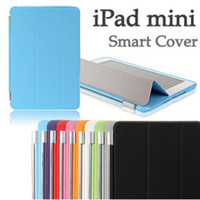 Wholesale Ipad Mini Case Magnetic Dhl - FREE Fedex DHL Smart Magnetic Cover 3 Folds Front Case for APPLE iPad MINI 1 2 3 iPad MINI 4 7.9'' PC with Sleep Wake Up Stander Factory DHL