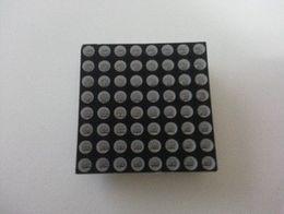 Wholesale Wholesale 3mm Green Led - 10pcs 8x8 Dot-Matrix 3mm Red and Green dia. Bicolor LED Display