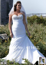 Wholesale Sweetheart Strapless Fit Flare - Perfact!! 2013 pure white Strapless Sweetheart taffeta Fit and Flare Gown wedding dresses 9V3476