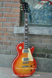 Wholesale Electric Guitars One Piece Neck - custom 59 VOS sunburst mahogany body one-piece set neck electric guitar