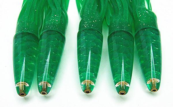 9 tums bläckfisk kjol locka mjuk bete havsfiske locka stor game trolling fiske lure harts huvud med bläckfisk kjol