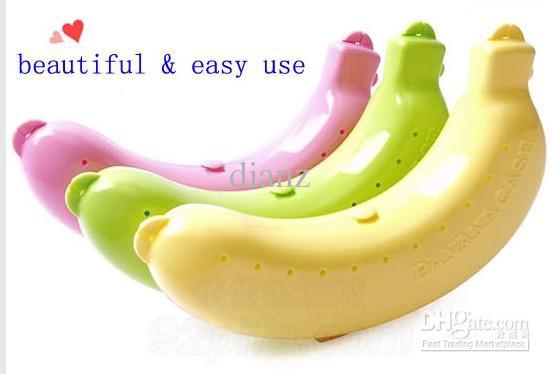 Banana Guard Container Lagerung Mittagessen Obst Beschützer Kunststoffbox Banana Case