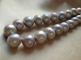 $enCountryForm.capitalKeyWord Canada - 12-14mm Silver Gray Cultured Freshwater Pearls Near Round Loose Beads 15 inches