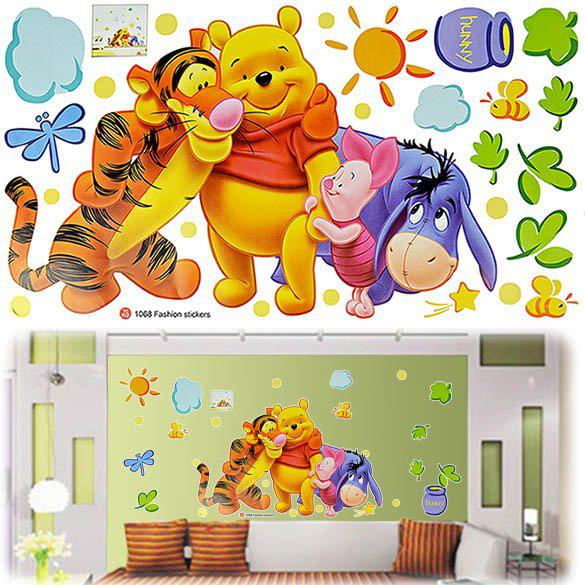 Winnie The Pooh Wall Sticker Part - 17: Children Baby Carton Pvc Wall Sticker ,Winnie The Pooh,Wall Decal  ,Wallpaper, Room Sticker, House Sticker # Kids Removable Wall Stickers Kids  Room Stickers ...