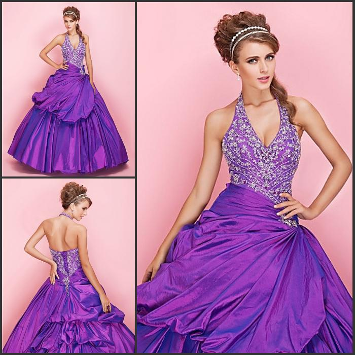 Princess New Arrival!gorgeous Purple Wedding Dresses Bridal Dresses ...