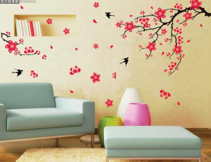 Removable Wall Stickers,Living Room Sofa Tv Background Wallpaper ...