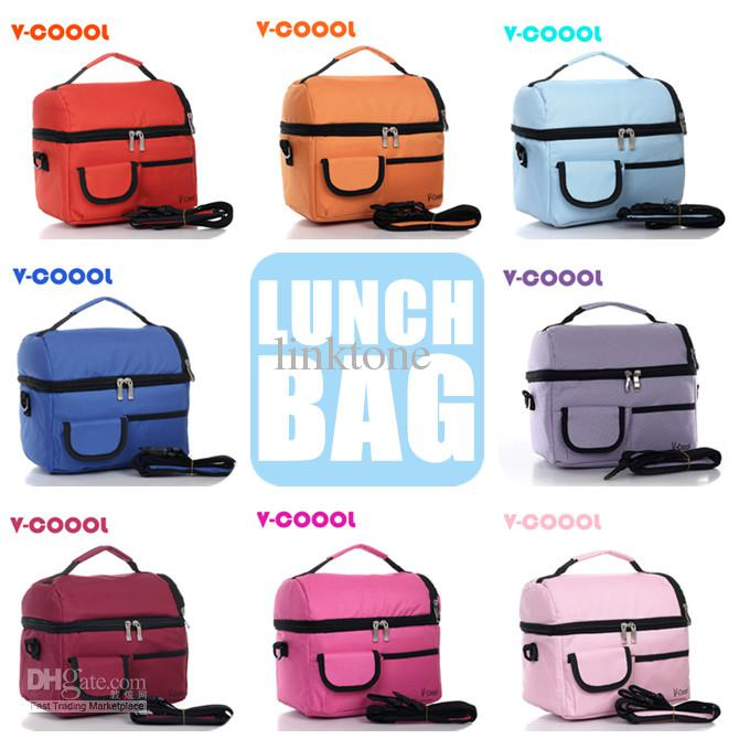 8l picnic lunch bag insulated cooler bag two lunch box 10 colors optional kids school lunch bags children lunch box portable