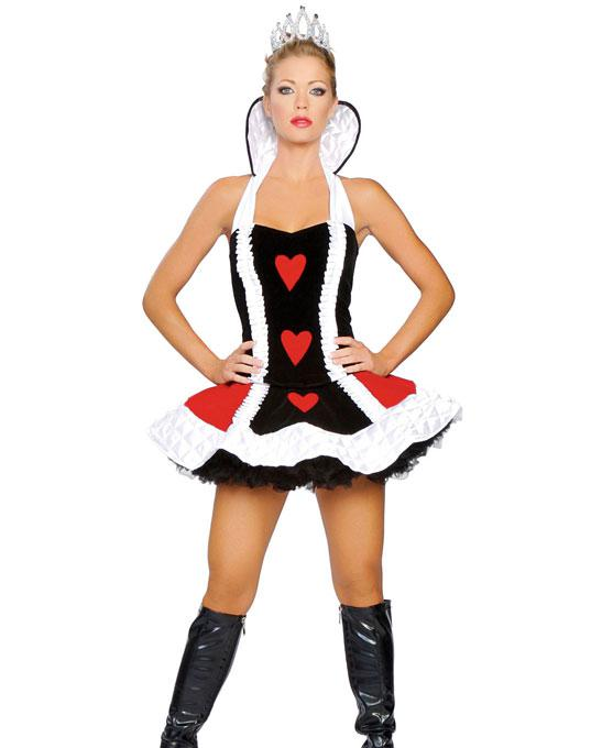 cosplay queen of hearts deluxe costume plus size adult sexy costumes for women ruffled top skirt crown h39084 black and white costumes themed party costumes