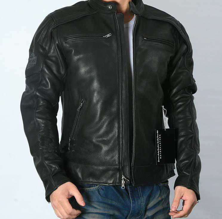 2018 Best Selling Men's Reflective Skull Genuine Leather Jacket ...