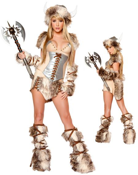 ... faux fur legwarmers faux fur fingerless gloves and matching faux fur trimmed hat with Viking horns and studded details. Viking sword not included.  sc 1 st  DHgate.com & Sexy Halloween Costumes For Women Adult The Viking Deluxe Costume ...