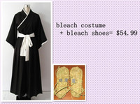 Wholesale Bleach Shinigami Kimono - Made All By Hand Bleach Cosplay Costume Shinigami Kimono + Bleach Shoes