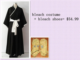 Wholesale Male Kimono Cosplay - Made All By Hand Bleach Cosplay Costume Shinigami Kimono + Bleach Shoes