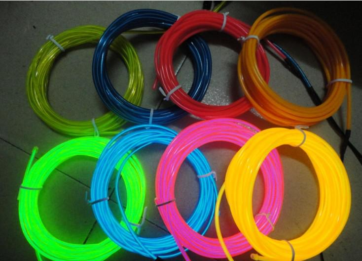 2018 15m Flexible Neon Light 1.4mm El Wire Rope Tube Red/Green ...