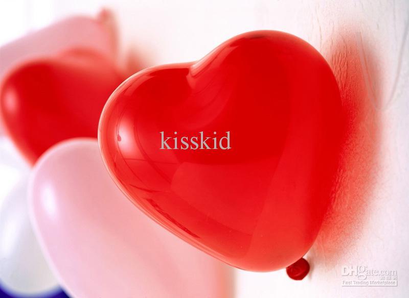 300 st billiga röda hjärta latex ballonger bröllopsfest gynnar barngåva