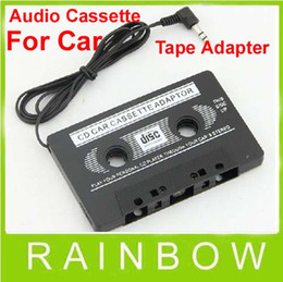 Wholesale Low Price Radio - Lowest Price 500pcs lot RA 3.5mm Car Vehicle Audio Stereo Cassette Tape Adapter for MP3 Player Phone