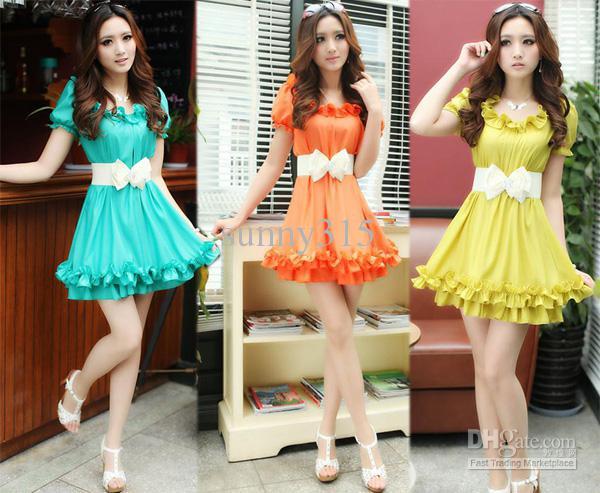Lady Angel Free Shipping Short Beige Chiffon Bridesmaid: Summer Clothes 2015 Sexy Women'S Short Chiffon Dresses