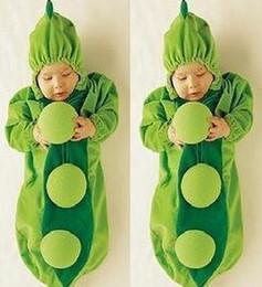 Wholesale Pea Sleep Bags - Wholesale - Cute Pea Pod Baby Sleeping Bags Infant Sleeper Baby Fleabag Baby Bunting+Free Shipping