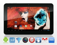 Wholesale Sanei N91 Inch Tablet - 9 inch Sanei N91 Elite Android 4.0 Tablet PC Allwinner A13 1GHz 8GB Wifi Dual Cameras External 3G DHL EMS Free