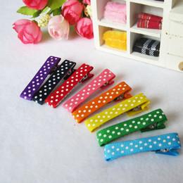 Wholesale Ribbon Spots - Baby Spot Printing Ribbon Hair Clips , Head Wear Hair accessories Simple Hairclips