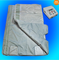 Wholesale Model Spa - New model 2 Zone FIR Sauna FAR INFRARED BODY SLIMMING SAUNA BLANKET heating therapy Slim Bag SPA WEIGHT LOSS body detox machine