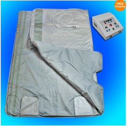 Longe de emagrecimento cobertor corpo infravermelho on-line-SAFE and FAST Slimming Blanket Body Sauna FIR Far Infrared SAUNA BLANKET Sauna Bag SPA WEIGHT LOSS therapy detox machine