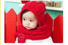 fils de laine pour enfants chapeau bonnet foulard siamois twin twinset 2013 fille bonnet garçon chapeaux bébé Accessoires ? partir de fabricateur
