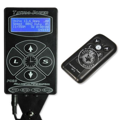 Tattoo Telecontrol Netzteil / Box mit Fernbedienung hochwertige langlebige bequeme schwarze Farbe meistverkaufte P040