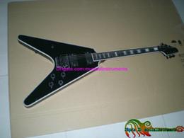 $enCountryForm.capitalKeyWord Canada - Custom Shop Black Flying V Ebony Fingerboard Electric Guitar HOT Free Shipping C2058