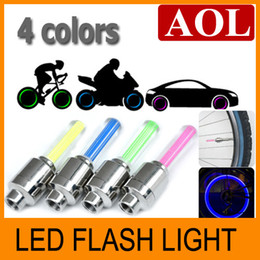 Wholesale Tyre Flys - Flash flashing fire flys LED Tyre Light Car motorcycle Bike Tyre Wheel Valve sealing Cap Stem
