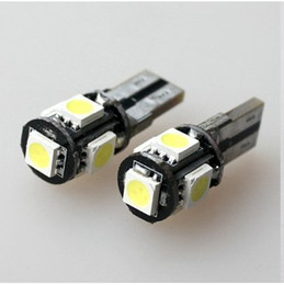 Wholesale Can Bus Led Bulbs - 100* LED bulbs T10 Can Bus 5SMD 5 SMD 5050 Canbus OBC Error Free Indicator lamps LED auto bulbs
