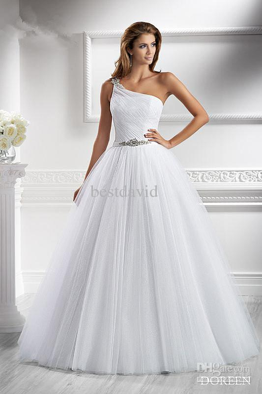 Discount Cheap 2013 One Shoulder A Line Wedding Dress Doreen ...