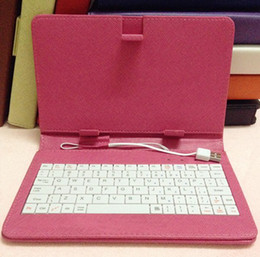 Wholesale Cheap Keyboards For Tablets - Brand new keyboard case for neutral 9 inch 7inch 9.7inch 10inch tablet with touch pen with stand cheap price