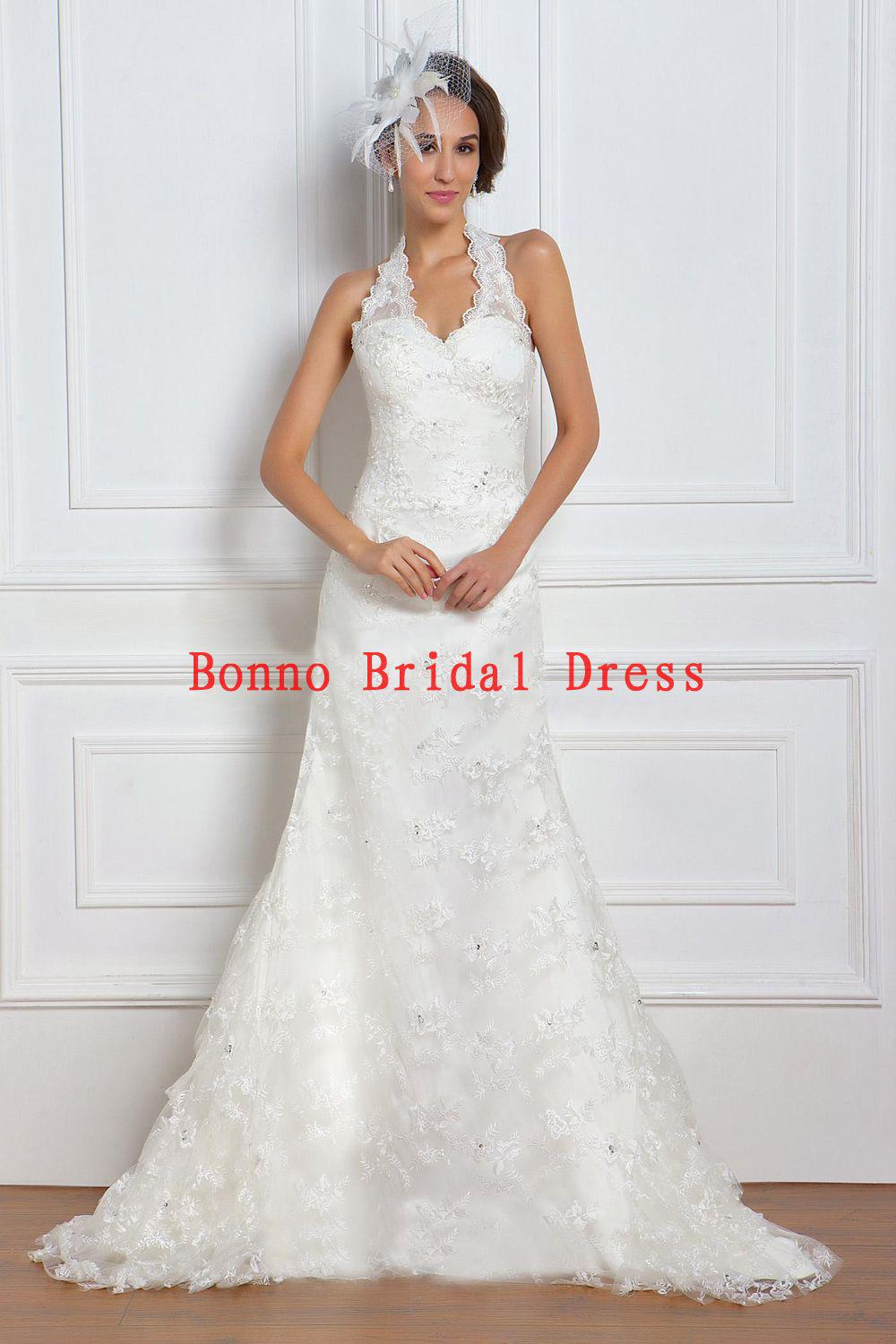 Gorgeous Mermaid Halter Lace Wedding Dress 2013 Spring Trends