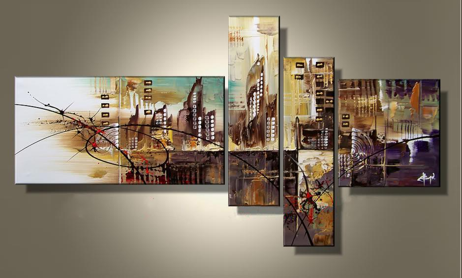 2018 abstract city group painting art group paintings home