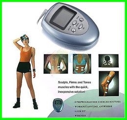 Wholesale Electronic Muscle Pulse Massager - 35pcs lot Burn Fat GYM Muscle Massager Slimming Machine Electronic Pulse Body Massager Free Shipping