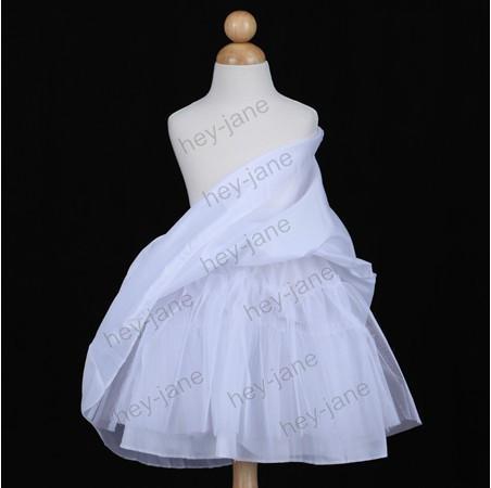 高品質の4つの層の子供のドレススリップの花の女の子のドレスペチコートふくらんでいるスカート特別な日のドレス