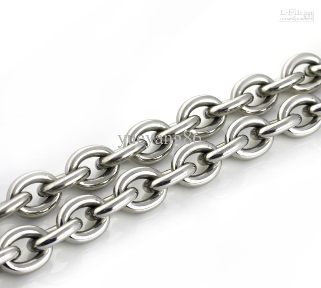 Mm heavy slap up men oval shinying jewelry silver
