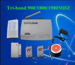 Wholesale Wholesale Alarm Gsm - HOT SALE GSM HOME BURGLAR ALARM SYSTEM New Version More Powerful Double Antenna Voice Prompt S206